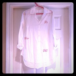 Sundry Embroidered Tunic Shirt